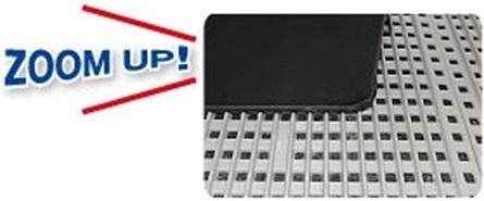 製品を押して運べる床置き樹脂パネル μデッキパネル